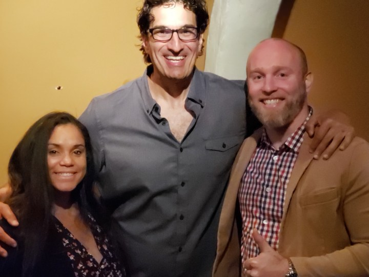 Clinton & his wife with Gary Gulman after the show.